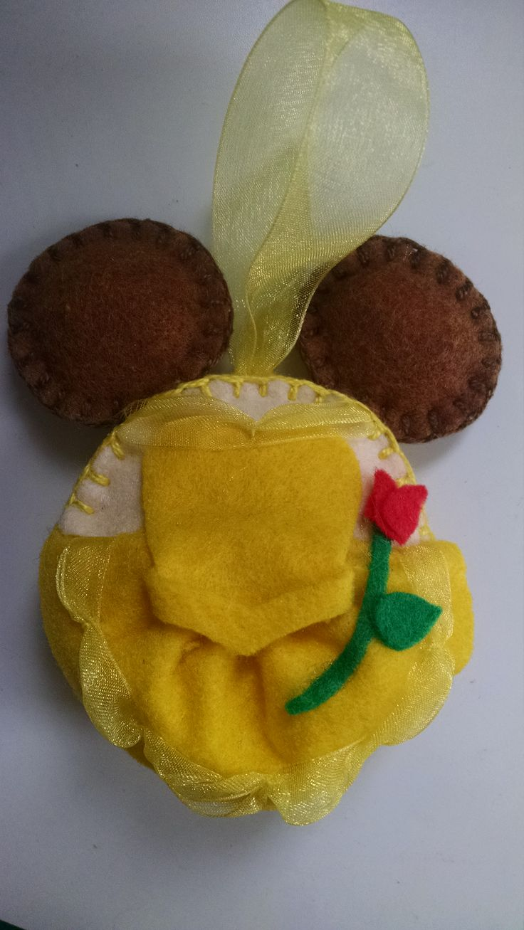 Belle - Disney felt ornament