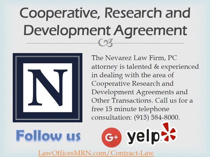 Cooperative, Research and Development Agreement Contract Law - development agreement contract