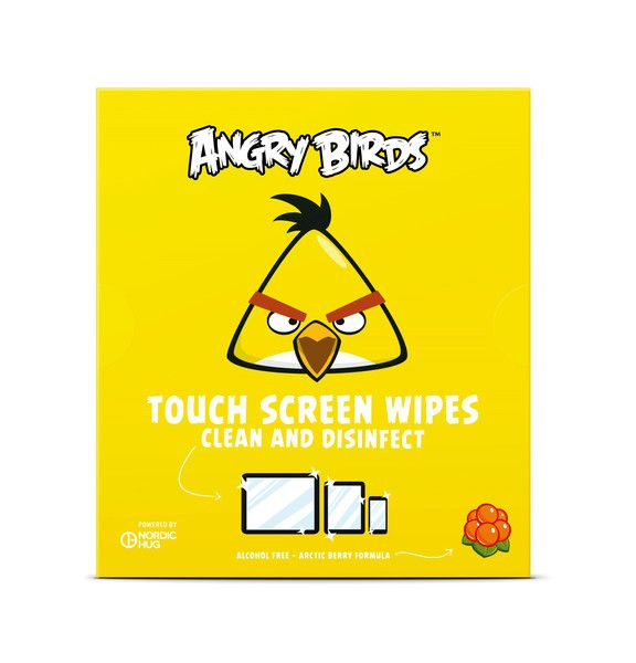 Angry Birds Touch Screen Wipes with Arctic Berry by Nordic Hug
