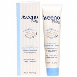 Aveeno Diaper Rash Cream...Auttie had a diaper rash that created open sores on her tush...We tried Penatin, Desatin, Vaseline (and even Canestin) and this was the ONLY thing that cleared it up!
