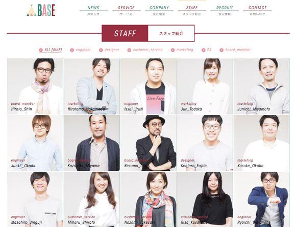 全社員が紹介されているコーポレートサイト9社(ネット系企業)
