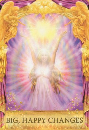 Big positive changes are coming into your life! You may find yourself on a new career path, entering a new relationship, or moving to a new home or city... (keep reading: http://www.freeangelcardreadingsonline.com/2015/angel-oracle-cards-big-happy-changes/)