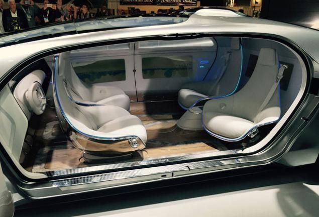 mercedes reveals futuristic driverless concept car at ces pinterest futuristic mercedes. Black Bedroom Furniture Sets. Home Design Ideas