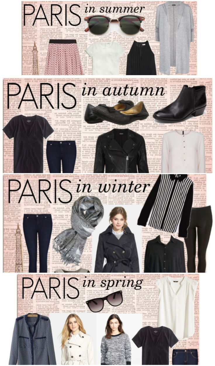 / how to pack for a trip to Paris....for each season /