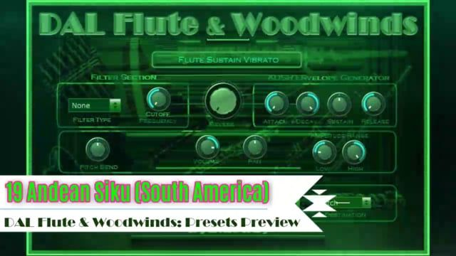 DAL Flute & Woodwinds is an orchestral and ethnic woodwind