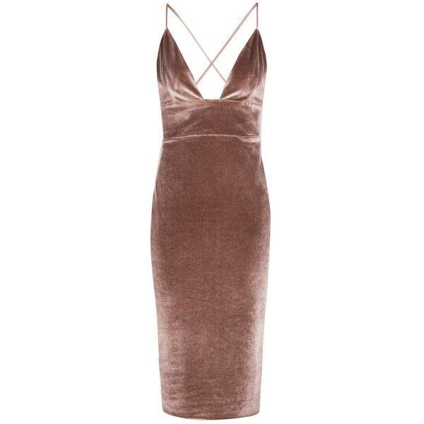Boohoo Night Hannah Velvet Plunge Neck Midi Dress ($30) ❤ liked on Polyvore featuring dresses, vestido, sequin party dresses, party dresses, maxi dresses, midi cocktail dress and midi dress