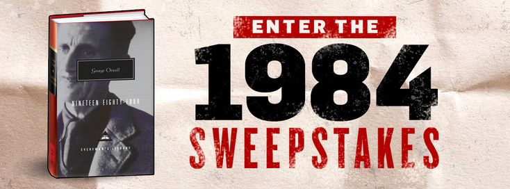 Enter for a chance to win one of twenty-five copies of George Orwell's classic dystopian novel, Nineteen Eighty-Four from Everyman's Library!