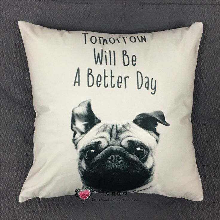 Wholesale Order Kiss Me Cushion Covers 40x40cm Pug Dog Pillow Case Wedding Decor Bedroom Decorative Kids Gift Wicker Chair Replacement Cushions Lawn Chair Cushion From Fashionwonderland, $4.13  Dhgate.Com