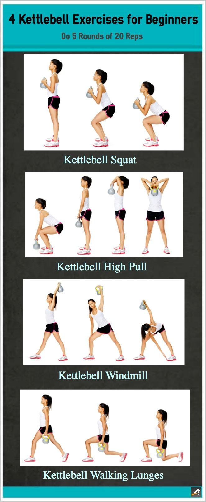 Just starting out? No problem! Check out these Kettlebell Exercises for Beginners #fitness