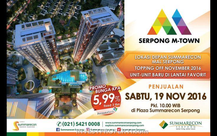 Launching Apartemen Serpong M-Town November 2016