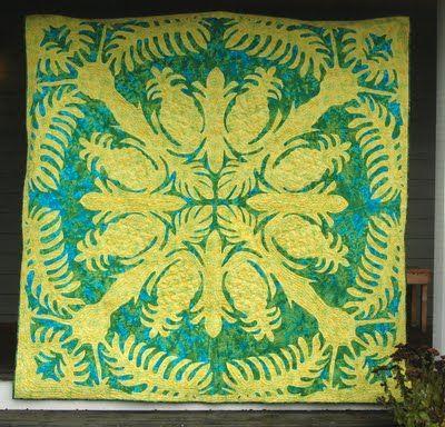Stitchnquilt: Hawaiian Pineapple Quilt
