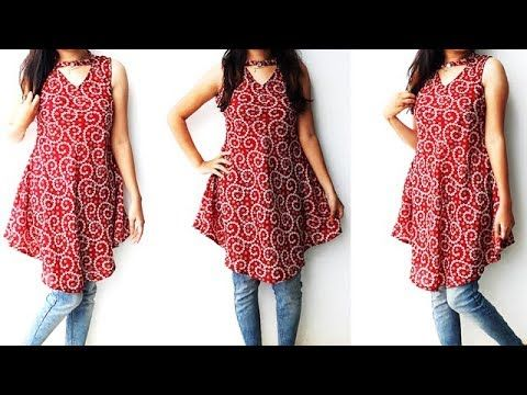 fd9e4b71af7 DIY Designer Stylish Tunic Top Cutting And Stitching Tutorial - YouTube