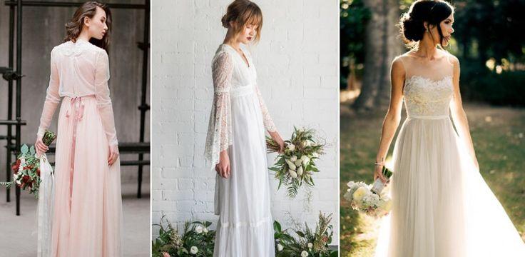 Skromne suknie ślubne - PIĘKNE ZDJĘCIA, INSPIRACJE