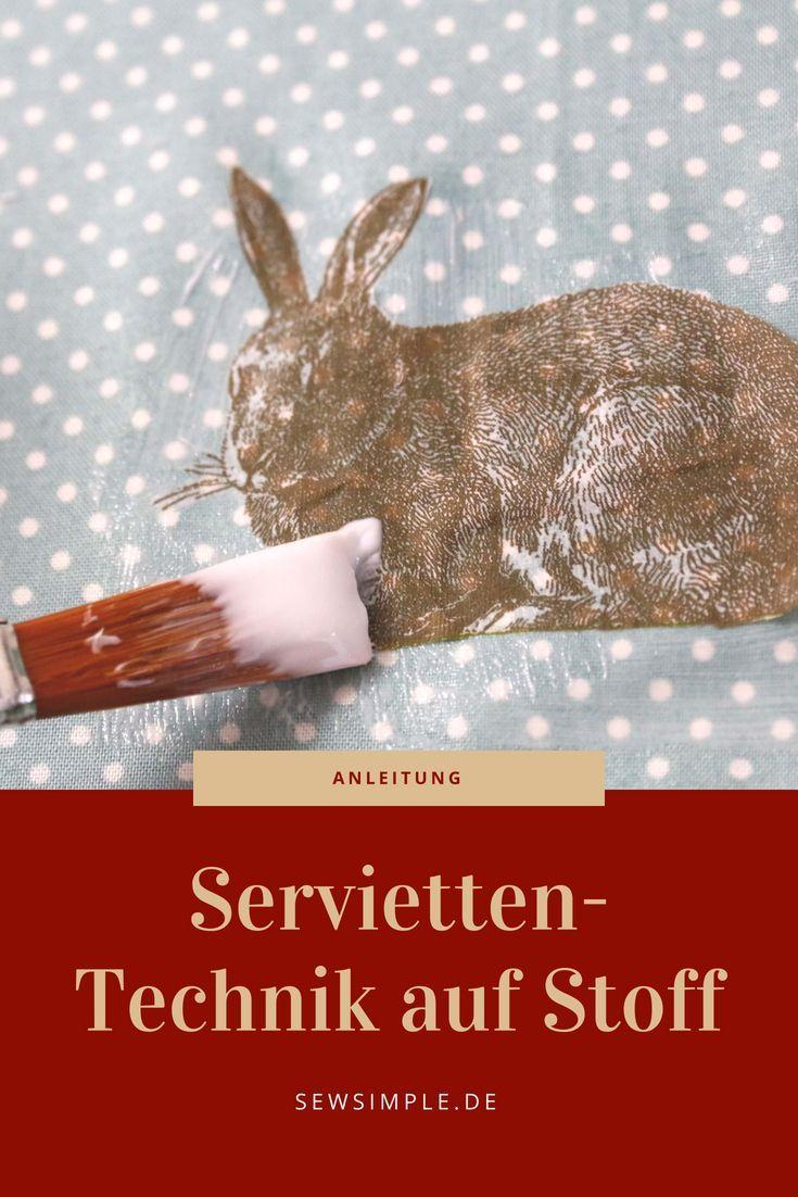 ᐅ Anleitung für Serviettentechnik auf Stoff – so geht's! – Andrea Bremer