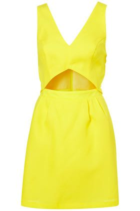 Another sunny yellow fave for summer! Cut Out Sun Dress @Topshop: Cutout Dress, Summer Colour, Color, Yellow Dress, Sundresses, Summertime