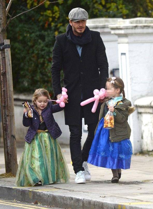 David Beckham with daughter Harper-so sexy