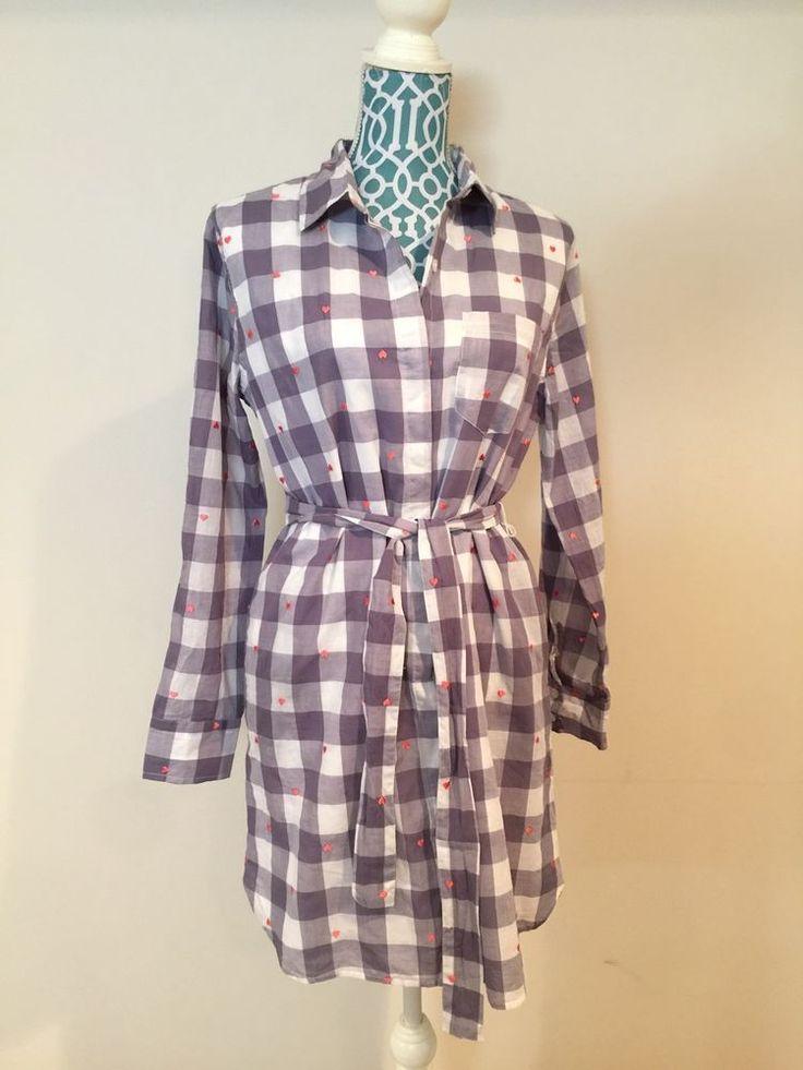 VS Victoria's Secret Plaid Shirt Dress Size 8 NWT