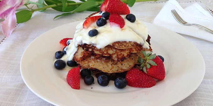 coconut pancakes - again, not a huge fan of coconut, but these look so good
