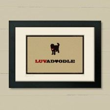 'Labradoodle' art print by The Typecast Gallery. Prices from £19.95.