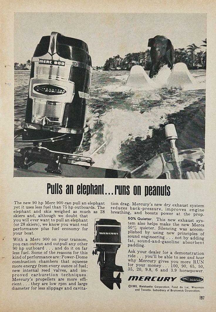 Mercury Marine Model 900 Merc Outboard Motor Vintage Ad