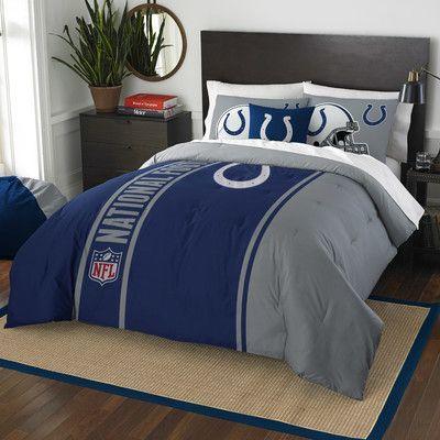 Northwest Co. NFL Colts Helmet Comforter Set Size: Full