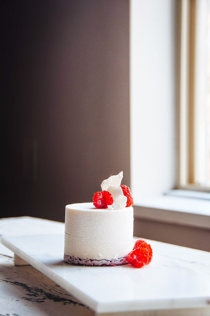 Raspberry and Vanilla Bean Mousse Cake | Hint of Vanilla