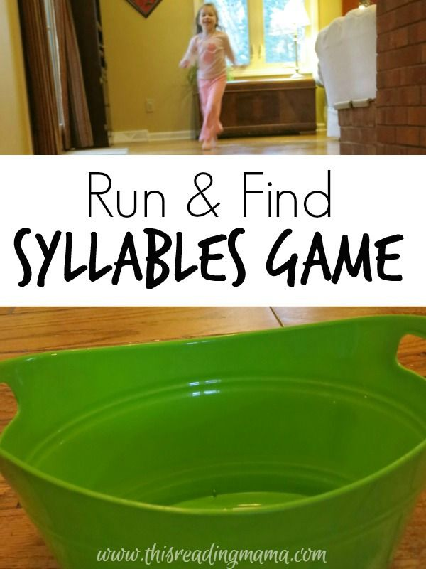 Run and Find Syllables Game ~ an ACTIVE indoor game for practicing syllables PLUS lots of ways to adapt it for other literacy skills | This Reading Mama
