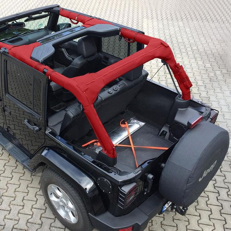"""CageCovers """"Logo Red"""" now available for all 2DR and 4DR Jeep Models. Visit CageCovers.Com for more details.  #jeeper #jeep #wrangler #rollbar #rollbarcover #unlimited #jeeplife #jeeps #wranglerwednesday #jk #cj #jeepsales #offroad #jeepnation #jeepwrangler"""