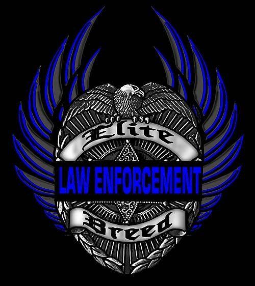 Elite Breed Law Enforcement Eagle TShirt Size Size By