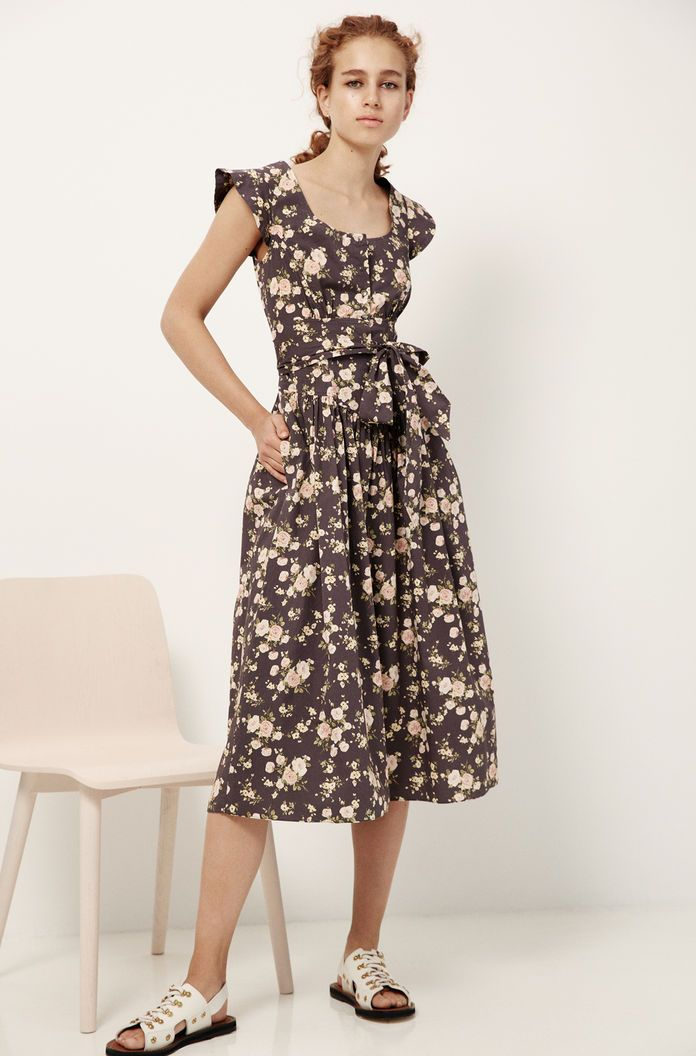 9f807beb754 La Vie Madeleine Floral Poplin Dress