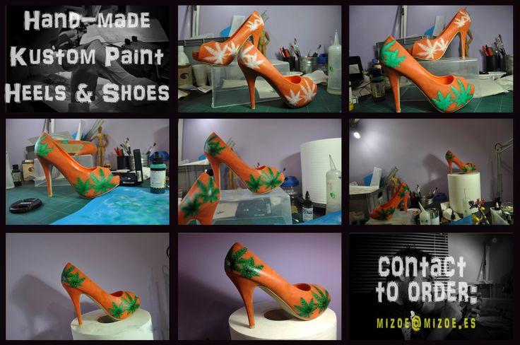 Smoking design - Custom Paint Heels