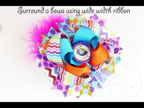 ▶ Surround a Bow (refresher) *How to make surround a bows with wider ribbons ~Hair bow tutorial~ - YouTube