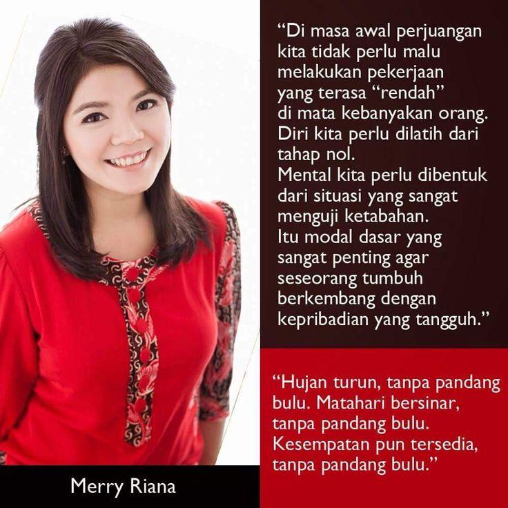 Merry Riana sudah buktikan kl emang usaha gak perlu liat ego, apalagi status. Terutama usaha yg bisa bikin hidup orang lain jadi lebih baik. Like yah yg mau hidup sendiri dan org2 terdekat jadi lebih baik ☺
