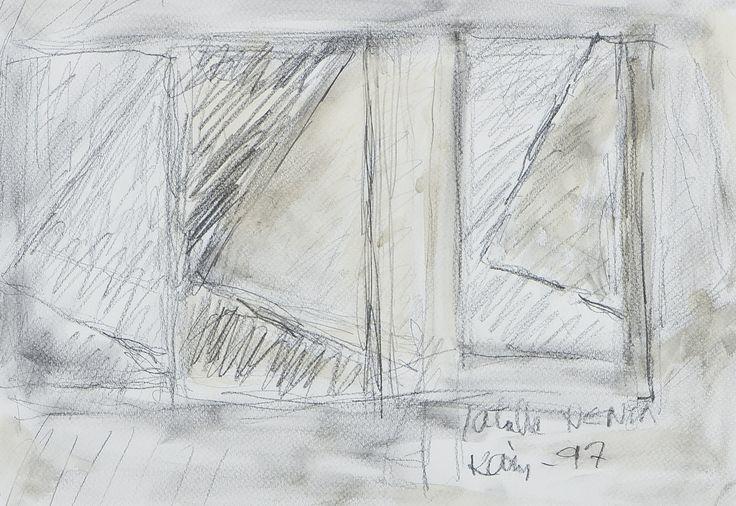 Kain Tapper, 1997, sekatekniikka, 28x40 cm - Hagelstam A137