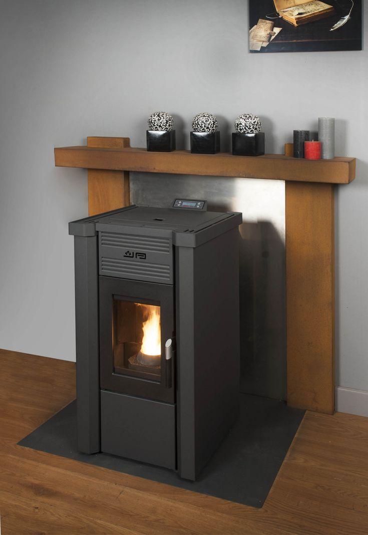 JAnus pellet kachel, duurzaam verwarmen, sfeer, design, € 500,- subsidie, vuur, warmte, www.eco2all.nl