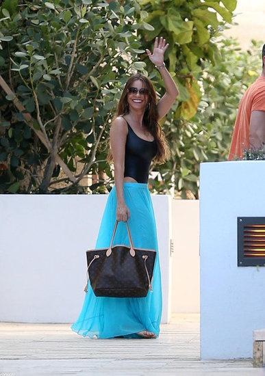 Maxi skirt bikini coverup
