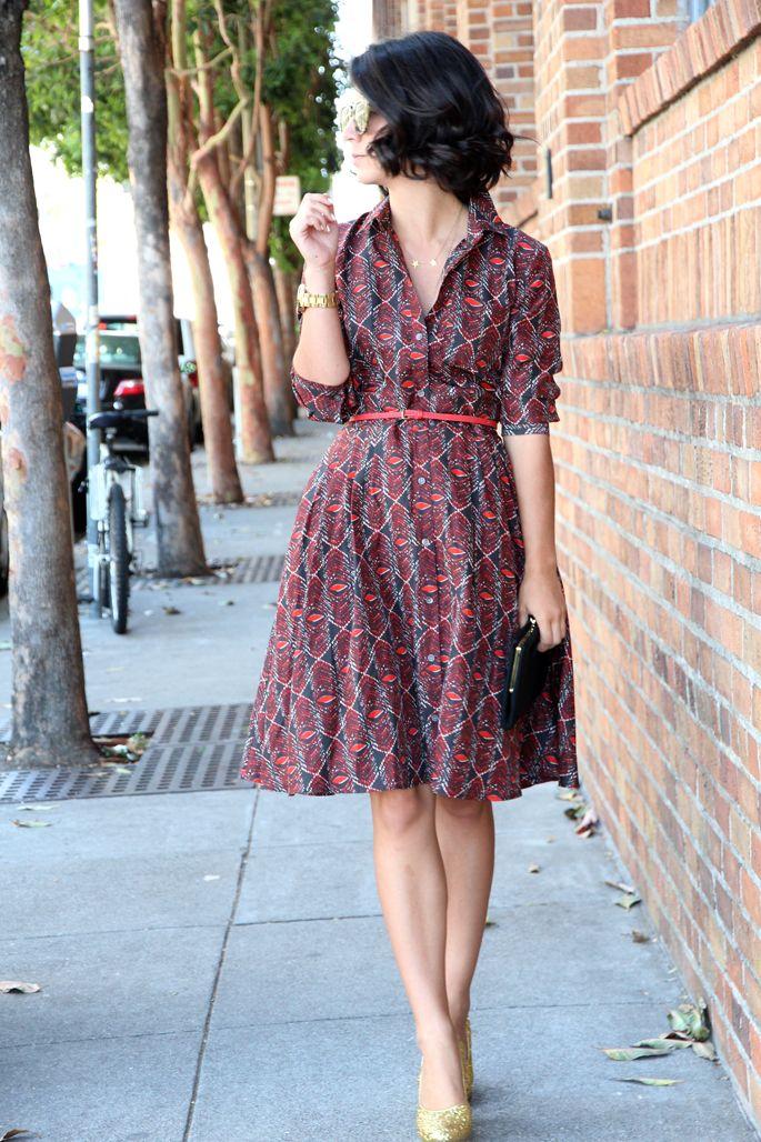 I LOVE this retro shirt-dress so hard! Great hem & sleeve lengths. This Time Tomorrow: club monaco {muse}