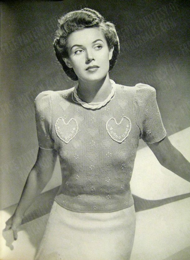 Free Vintage Heart Jumper Knit Pattern and Tutorial