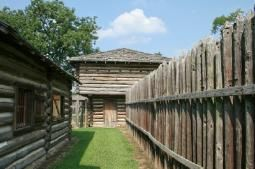 Fort Gibson Historic Site - Fort Gibson, Oklahoma - Established in 1824, Fort Gibson served as a starting point for several military expeditions that explored the west. It was occupied through most of the Indian Removal period then abandoned in 1857. The post was reactivated during the Civil War. The army stayed through the Reconstruction and Indian Wars periods, combating the problem of outlaws and squatters. In 1890, the army abandoned Fort Gibson for the last time.