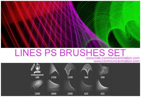 Awesome Lines Brushes Set. A new Lines Brushes Set for Photoshop design in Photoshop CS6. The lines brushes set comes in two different version: the low quality aviable here and the hight quality that you can download on our blog here: http://mab.communicanimation.com/en/lines-photoshop-brushes-set/ We ask to credit us if you use our resources. That's not mandatory but we really appreciated it!  #brush #brushes #curves #line #linear #lines #net #stroke #Strokes Check more at…