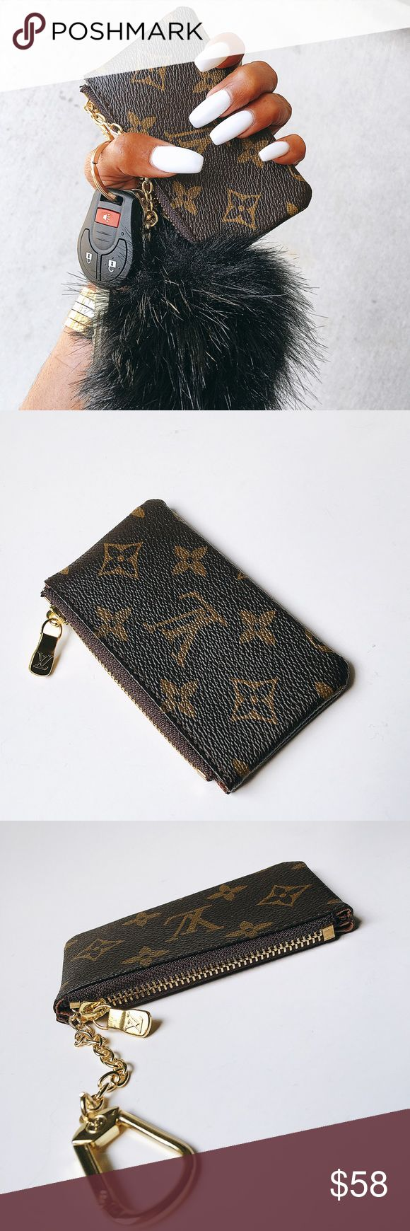 Key Pouch Inspired Monogram Key Pouch LV Louis Vuitton Accessories