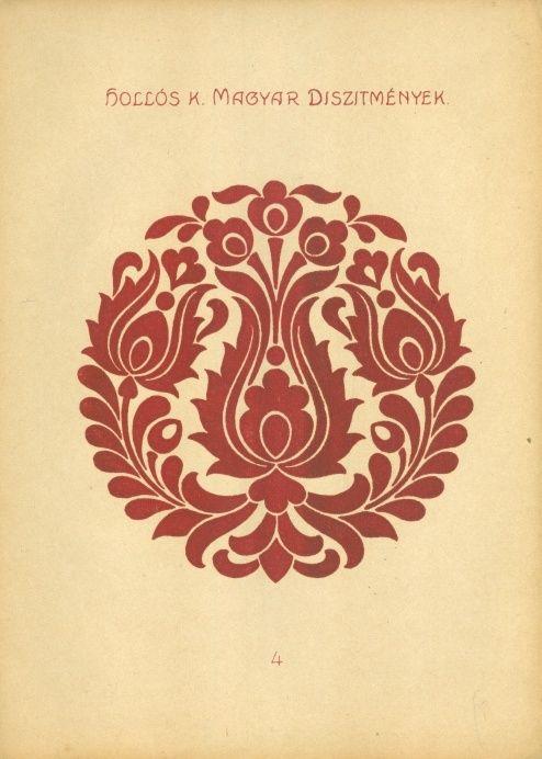 Hollós Károly (tervezte és rajzolta) - Magyar díszítmények. 25, részben többszínű mintalap iparművészek, rajzoktatók, iparosok, műkedvelők és iskolák számára - Múzeum Antikvárium