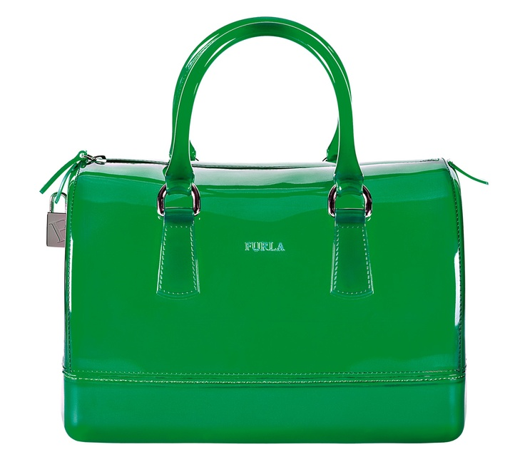 Furla Candy Collection green purse