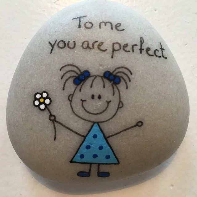 #artrocks #blue #dots #flower #girl #happy #happyrocks #instaart #instaartist #naturerocks #paintedpebbles #paintingstones #perfect #rocksROCK #rocktheworld #stone #stonedeco #tomeyouareperfect