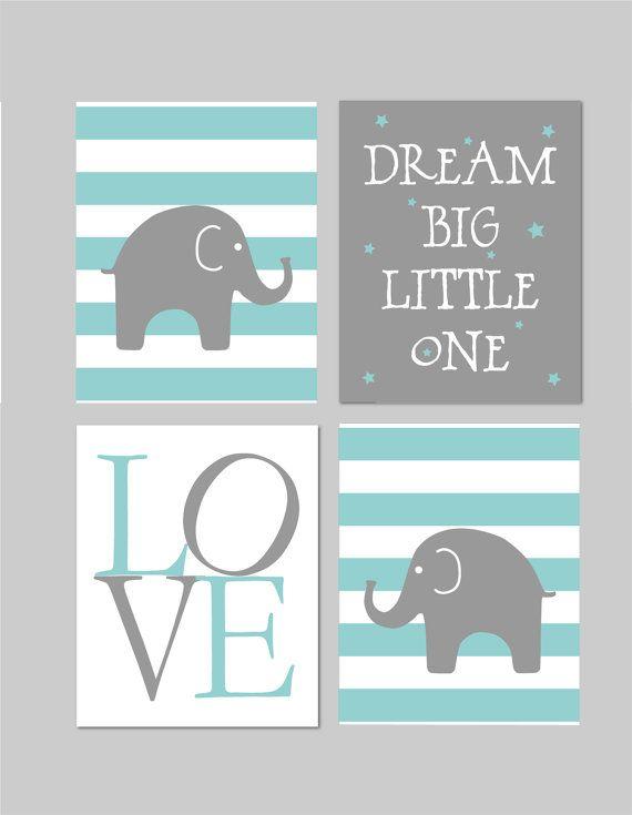 50% Off Sale Elephant Nursery Dream Big by fairplayprintables