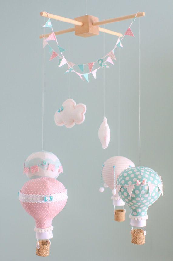 Baby Mobile Hot Air Balloon Nursery by sunshineandvodka