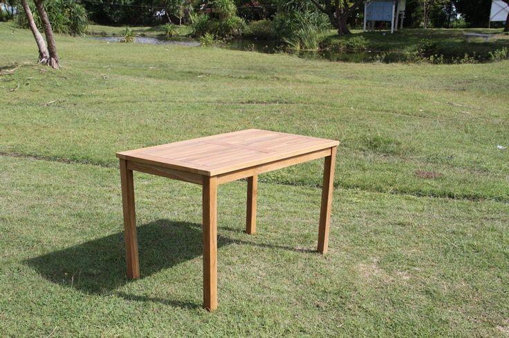 teak tisch massiver tisch 70x120 neu in garten terrasse m bel tische ebay. Black Bedroom Furniture Sets. Home Design Ideas