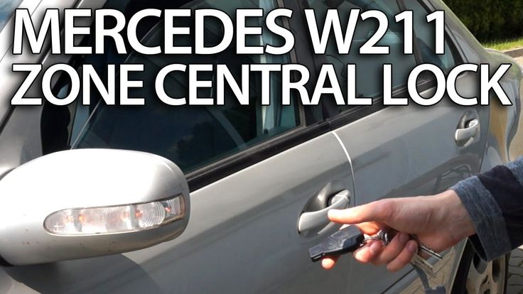 How to activate zone central lock in #Mercedes Benz #W211 (E-class #safety features) #cars
