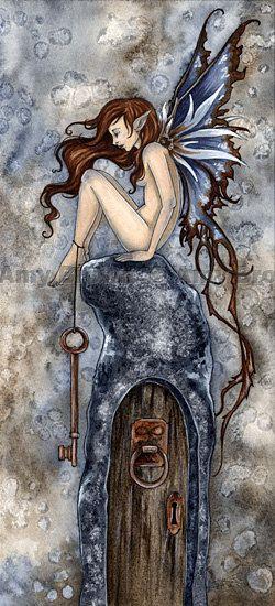 """Amy Brown """"Infinity Door"""" wowo la puerta al infinito est amuy realista la pintura se ve locochon"""