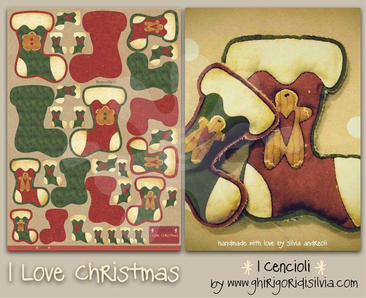 Cenciolo I LOVE CHRISTMAS by Ghirigori di Silvia di GhirigoridiSilvia su Etsy